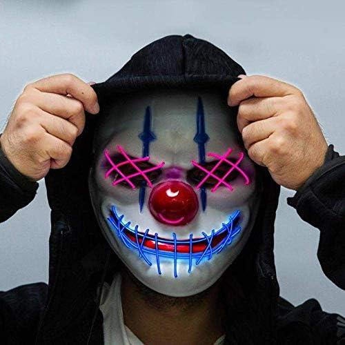 RTGFS Halloween Máscara LED Light Up Party Máscaras de la Purga ...