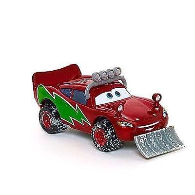 Disney / Pixar CARS Movie 155 Die Cast Figure Exclusive Christmas Package Snowplow Lightning McQueen: Toys & Games
