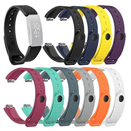 Meidexian888 3D Texture Solid Color Silicone Strap Quick Release Adjustable Wrist, Replacement Watch Band for Fitbit Inspire/Inspire HR
