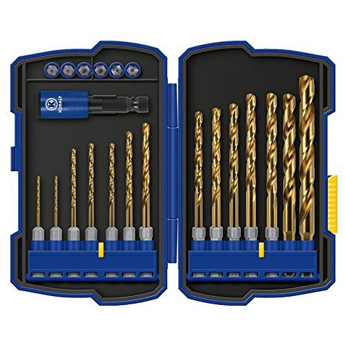 (Kobalt 21-Piece Titanium Metal Twist Drill Bit Set )