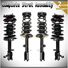 WIN-2X New 4pcs Front+Rear Right+Left Quick Complete Suspension Strut Shock & Coil Springs Assembly Kit Fit 93-02 Toyota Corolla Sedan 93-97 Geo Prizm 98-02 Chevy Prizm