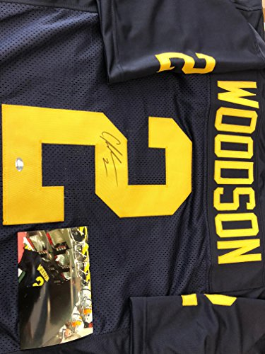 Charles Woodson Autographed Signed Michigan Custom Jersey GTSM Woodson Hologram & COA w/photo from signing (Autograph Woodson)