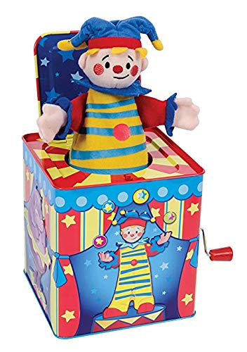 Silly Circus Clown JACK IN THE BOX Musical Classic Toy Pop Goes The Weasel by Schylling (Image #1)
