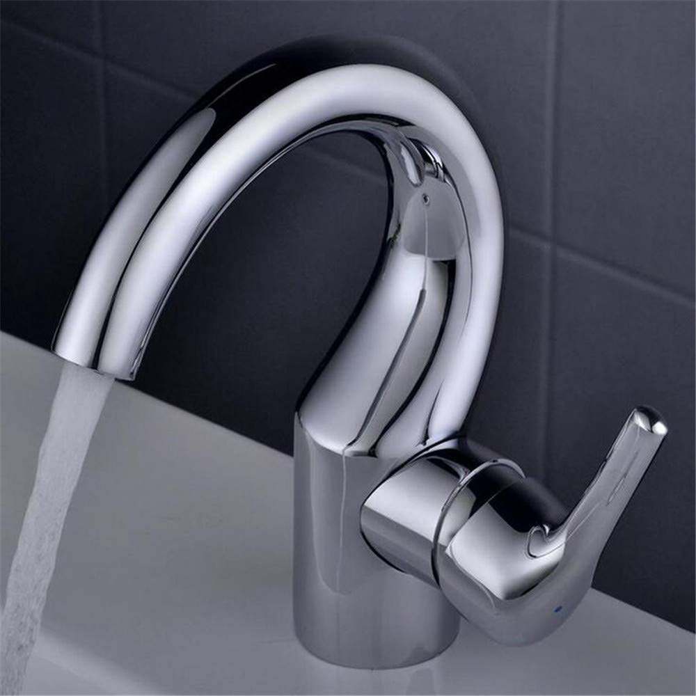 Sink tap Fashion Trend Kitchen Bathroom Hot and Cold Water Mixing Faucet Triple-Type Polished Basin Faucet