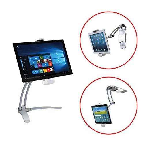 "CTA Digital Wall//Under-Cabinet Mount Tablet Stand iPad pro 12.9/"" Surface Pro 4"