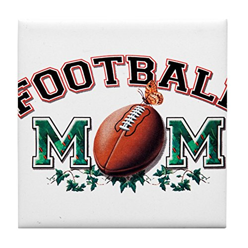 Tile Coaster (Set 4) Football Mom with Ivy