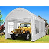 Quictent® Ⅱ 20x10 Portable Carport Canopy Party Tent White Heavy Duty
