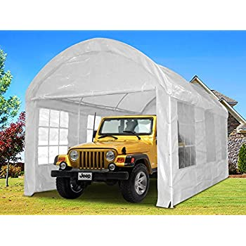 Amazon.com: Quictent 20x10 Heavy Duty Portable Carport ...