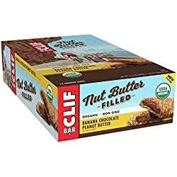 CLIF Nut Butter Filled - Organic Energy Bar - Banana Chocolate Peanut Butter - (1.76 Ounce Protein Snack Bar, 12 Count)