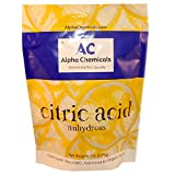 Citric Acid - 5 Pounds - Food Grade , Non-GMO, Organic, 100% Pure - Alpha Chemicals