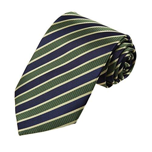 - Dan Smith DAA7A12B Blue Green Stripes Microfiber Neckwear Italian Online Tie