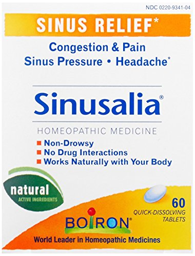 Boiron Sinusalia, 60 Tablets, Homeopathic Medicine for Sinus Relief