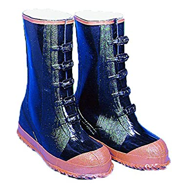"""Mutual Industries 14501-10-5 Over-The-Shoe 5 Buckle Artic Boots, 14"""" High, Size 10, Black with Maroon Sole: Industrial & Scientific"""