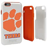 NCAA Clemson Tigers Hybrid Case for iPhone 6 Plus, White