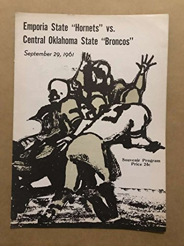 CENTRAL OKLAHOMA STATE EMPORIA STATE COLLEGE FOOTBALL PROGRAMS 1961 (1961 Ncaa Football)