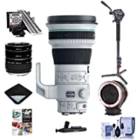 Canon EF 400mm f/4 DO IS II USM Super Telephoto Lens USA Warranty - Bundle With 4 Section CF Monopod, Peak Lens Changing Kit Adapter, LensAlign MkII Focus CalibrationAuto Extension Tube Set And More