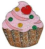 Navika Cupcake Glitzy Ball Marker with Hat Clip