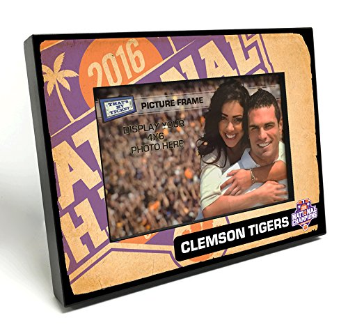Football Tickets Tigers (Clemson Tigers 2016 Football National Champions Wooden 4x6-inch Picture Frame)