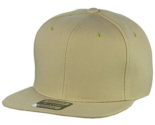 L.O.G.A. Plain Adjustable Snapback Hats Caps Flat Bill Visor - ()