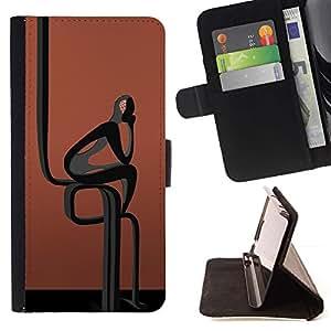 For MOTOROLA MOTO X PLAY XT1562 Case , Resumen Hombre Negro- la tarjeta de Crédito Slots PU Funda de cuero Monedero caso cubierta de piel