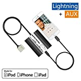 APPS2Car Car iPhone iPod iPad Lightning & AUX Adapter,Auto Integrated Digital CD Changer Phone Charger Stereo MP3 Interface for Honda Accord Civic Odyssey Pilot CRV Fit Element S2000,Acura MDX TSX RDX