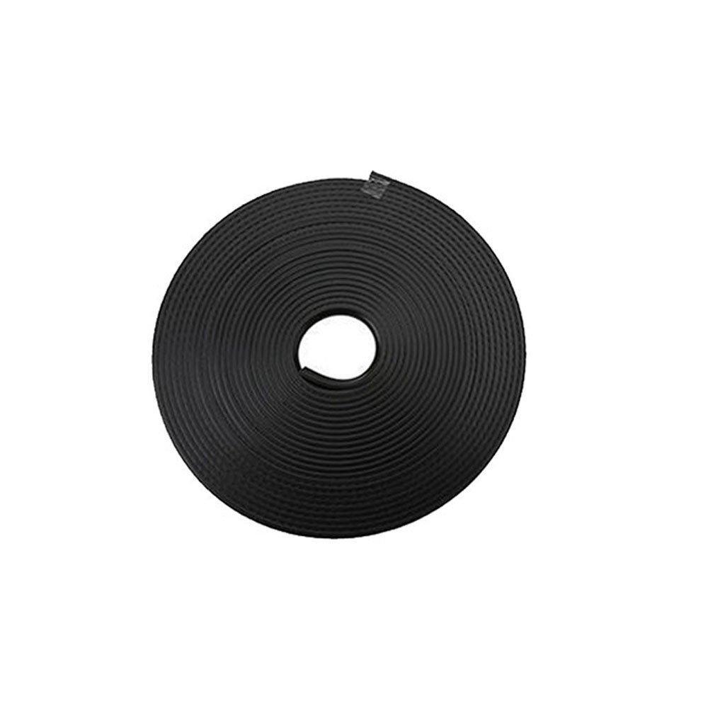 Hanbaili 4pcs Black 8M Car Door Edge Guards Trim Rubber Seal Protector Guard Strip Wheel Hub Rim Edge Ring Sticker