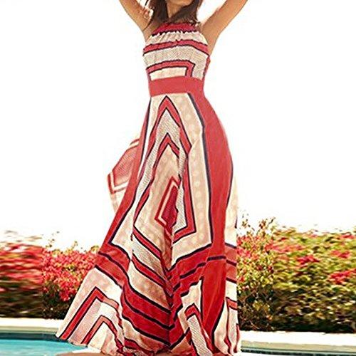 Cocktail Misti Estate Lungo Lunga Chiffon Weant Veste Colori Rosso Senza Abiti Maniche Dress Abito Elegante Lunghi Gonna Festa Donna Donna Vestito Spiaggia xvfqwZOv