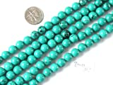 8mm Round Gemstone Natural Turquoise Beads Strand 15 Inch Jewelry Making Beads
