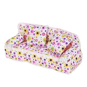 yshon Mini Möbel Blume Sofa Couch mit 2 Kissen c6fb13d921