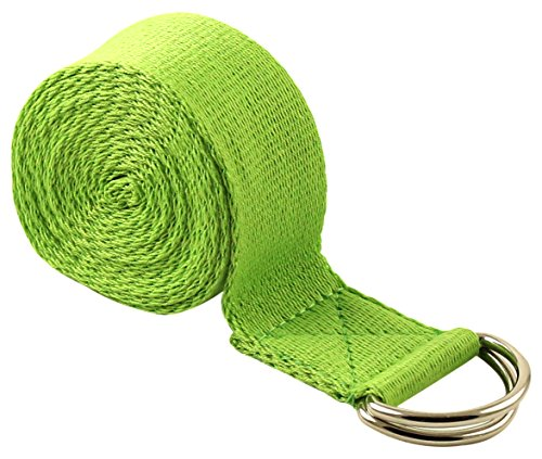 Fit Spirit 6ft Fitness Exercise Yoga Strap - Green