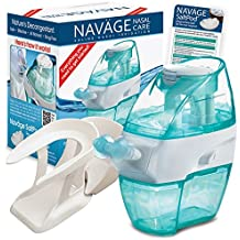 Navage Nasal Irrigation Starter Bundle: Naväge Nose Cleaner, 28 SaltPod Capsules, and Countertop Caddy. $122.85 if purchased separately; you save $22.90 (19%)