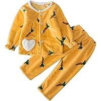 DEBAIJIA Bebé Ropa de Casa 2-12T Infantil Homewear Niños Pijama Niña Ropa de Dormir Niño Camisones Invierno Franela…