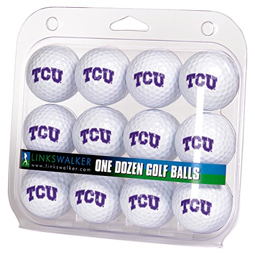 NCAA TCU Horned Frogs - Dozen Golf Balls (Frogs Tcu Golf Horned)