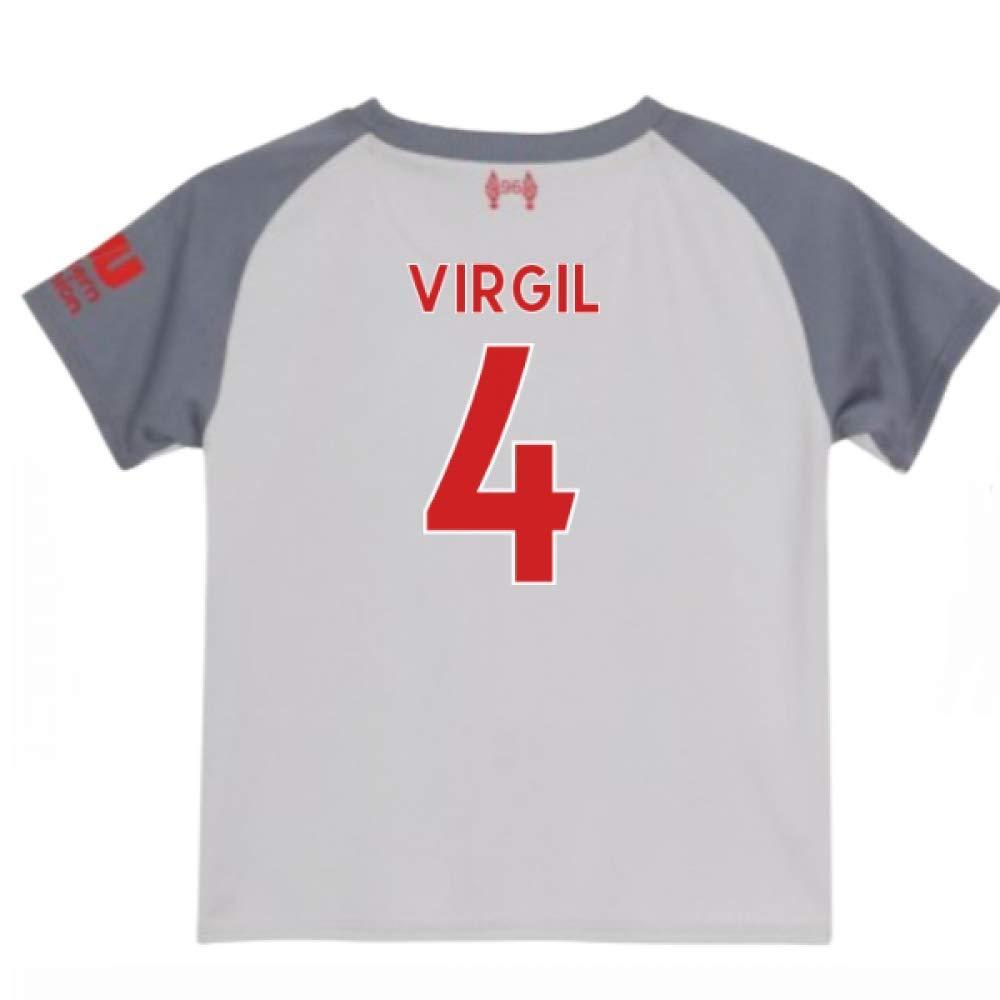 UKSoccershop 2018-2019 Liverpool Third Little Boys Mini Kit (Virgil Van Dijk 4)