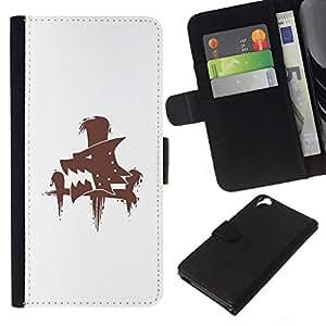 All Phone Most Case / Oferta Especial Cáscara Funda de cuero Monedero Cubierta de proteccion Caso / Wallet Case for HTC Desire 820 // Wolf Sign