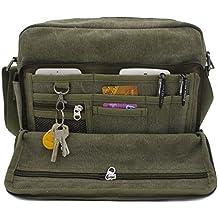 MiCoolker Multifunction Classic Versatile Mens and Womens Canvas Messenger Bag Handbag Crossbody Shoulder Bag Leisure Bag Travel Purse Change Packet