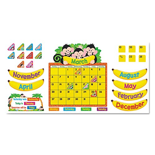 TREND enterprises, Inc. T-8340 Monkey Mischief Calendar Bulletin Board (Monkey Mischief Bb Set)