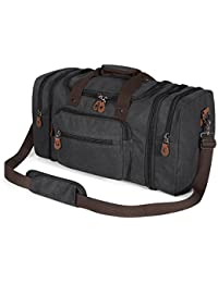 Unisex's Canvas Duffel Bag Oversized Travel Tote Luggage Bag