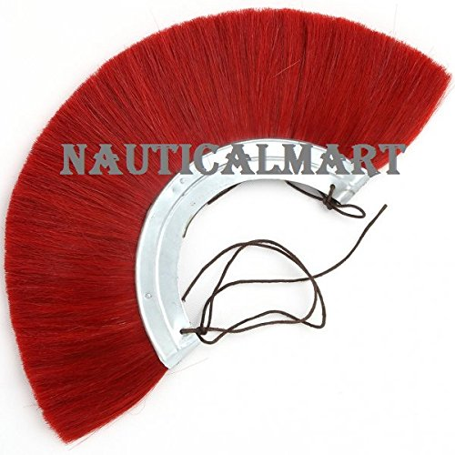 Roman helmet Red Plume With metal frame By Nauticalmart