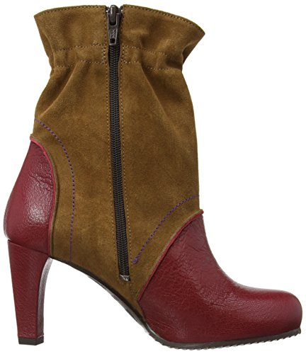 Fly London Hald Mousse Mid Oil Suede, Women's Boots Cordoba Red/Camel/Purple Stitch
