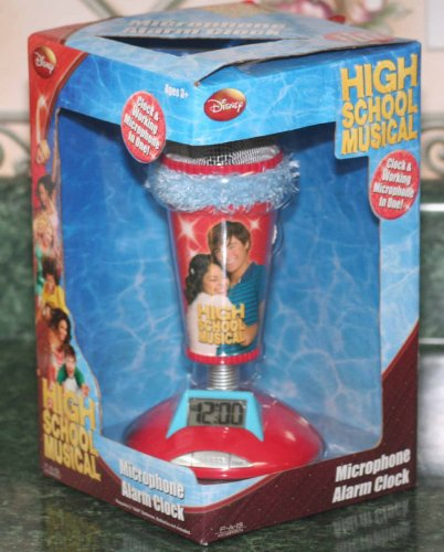 High School Musical Microphone Alarm Clock Real Working Mic Pink Trim