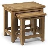 Julian Bowen Light Astoria Nest of Tables, Waxed Oak