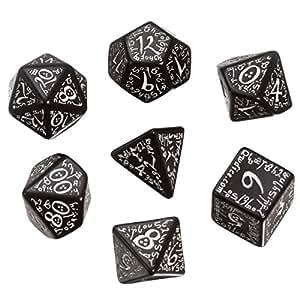 Elven Dice set Black/white (7) Board Game
