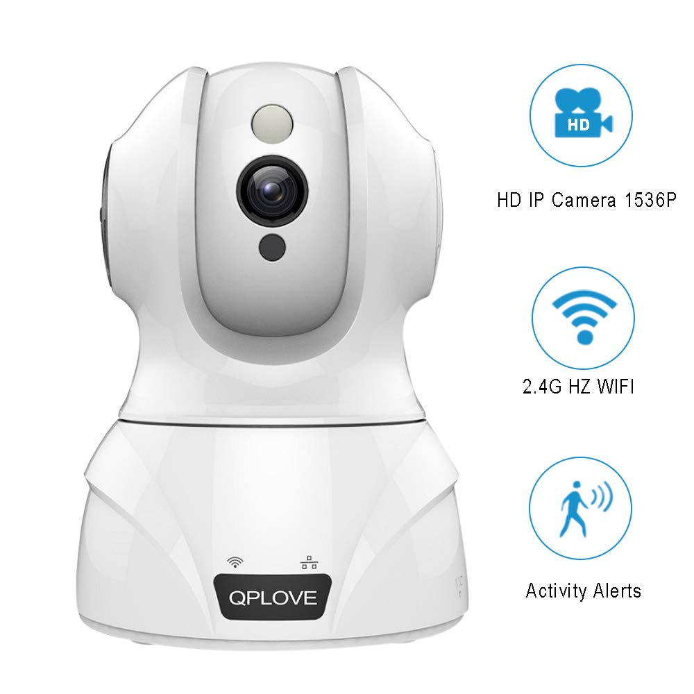 Security IP Camera Wireless,YUZES Home Surveillance Camera HD 1536P,3MP Baby Camera Monitor WiFi Support iOS,Android,PC,Night Vision,Motion Detection,2-Way Audio,Remote Monitor,Work with Alexa