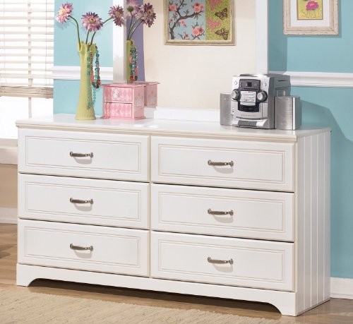 Ashley Furniture Signature Design - Lulu Dresser - 6 Drawers - Traditional Style - White by Signature Design by Ashley