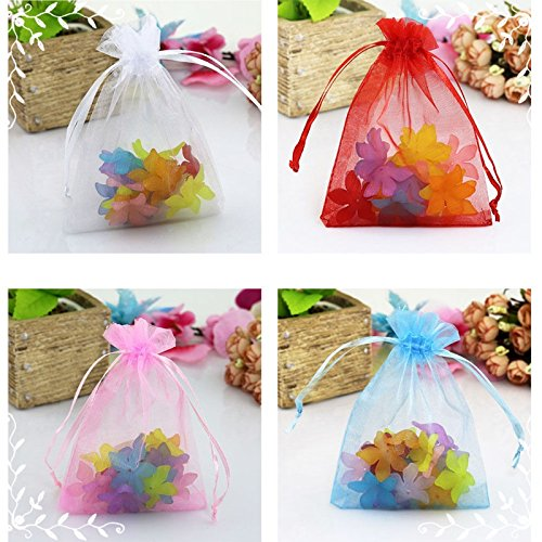 1000PCS 5''x7'' Pink Organza Party Packing Wedding Favor Candy Gift Bags Decor TKT-11 by TKT-11 (Image #1)'