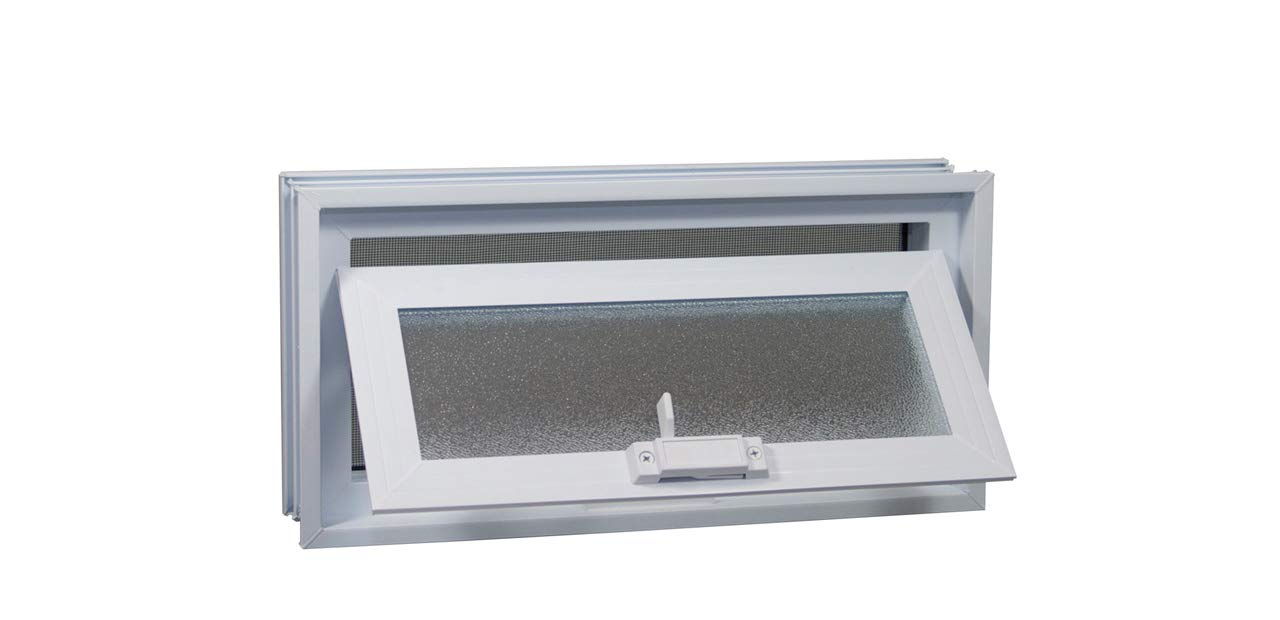 Crawl Space Vent (White) - for 16''W x 8''H Foundation Openings by Glass Block Factory