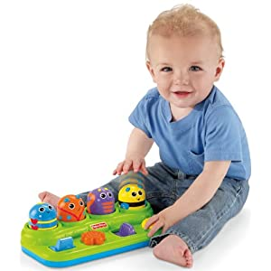 Fisher-Price Brilliant Basics Boppin Activity Bugs - 51LjB5ijnpL - Fisher-Price Brilliant Basics Boppin' Activity Bugs [Amazon Exclusive]