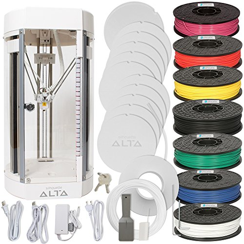 Silhouette Alta 3D Printer Bundle with all Color Filament Pack ()