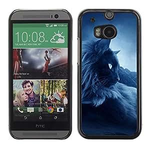 Vortex Accessory Carcasa Protectora Para HTC ONE ( M8 ) - Dark Siamese Thai Birman Cat Black -